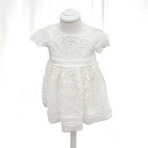 Stella Christening dress with cap sleeve