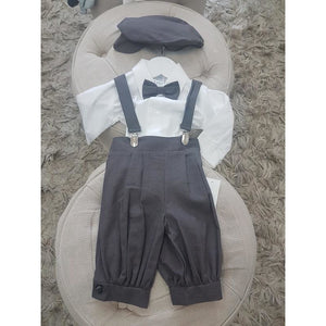 Charcoal 5 piece Boys rayon linen set
