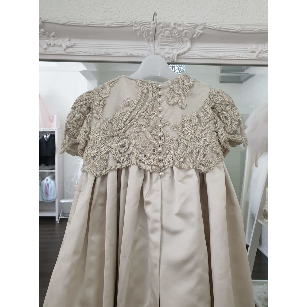 Load image into Gallery viewer, Handmade Jennifer Christening dress with beaded lace