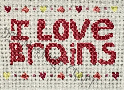 I Love Brains ****Sampler PATTERN - Demon Monkey Craft