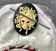 Load image into Gallery viewer, New Needle Minders Medusa Skull, Baphomet, and Gravestone