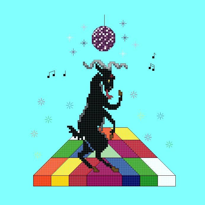 Satan's Disco Cross Stitch DIGITAL PATTERN