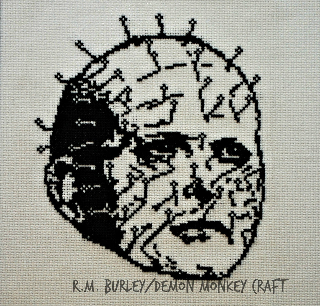 Pinhead Cross Stitch Portrait DIGITAL PATTERN DOWNLOAD