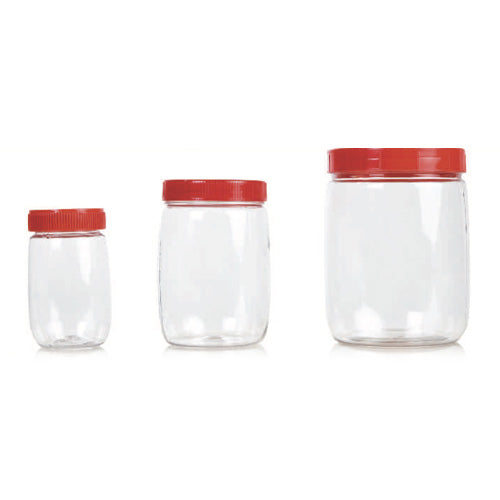 Ghee Jars Clear With Cap