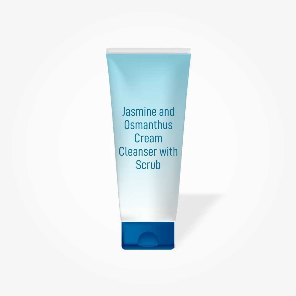 Jasmine and Osmanthus Cream Cleanser With Scrub
