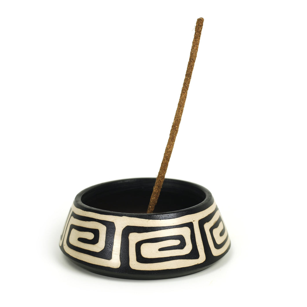 Incense Burner - Peruvian Ceramic Incense Burner for Stick & Cone Incense