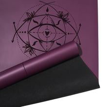 Load image into Gallery viewer, Pro Yoga Body Alignment Mat - Purple Plum