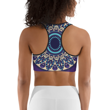 Load image into Gallery viewer, YYS Sports Bra - OutSpiral Purple Mandala