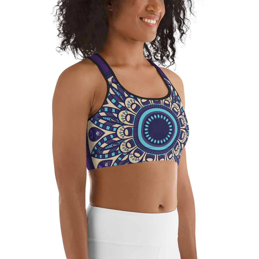 YYS Sports Bra - OutSpiral Purple Mandala