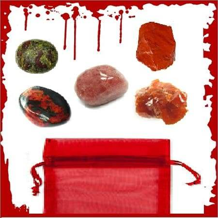 Blood Moon Crystal Pouch