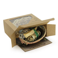 Load image into Gallery viewer, Purification Kit of Palo Santo, Sage, Yerba Santa - Abalone shell