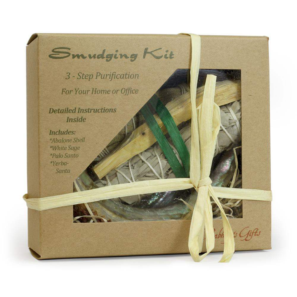 Purification Kit of Palo Santo, Sage, Yerba Santa - Abalone shell