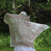Load image into Gallery viewer, Meditation Yoga Prayer Shawl - Maha Mantra - White Large