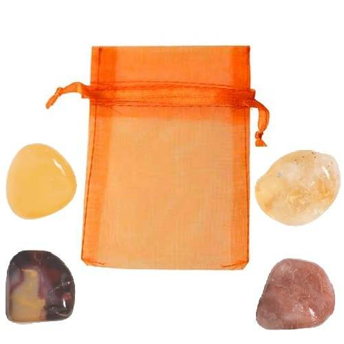 Orange Crystal Pouch