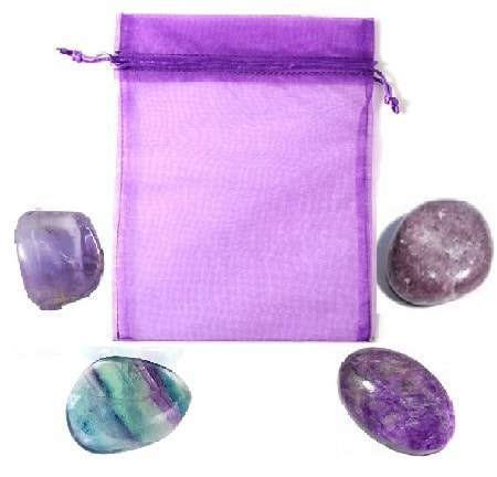 Violet Crystal Pouch
