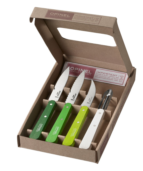 Opinel Chefs set - Red, Natural, Black & Industrial Grey.