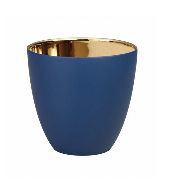 Blue & Gold Porcelain T-Light (Small)