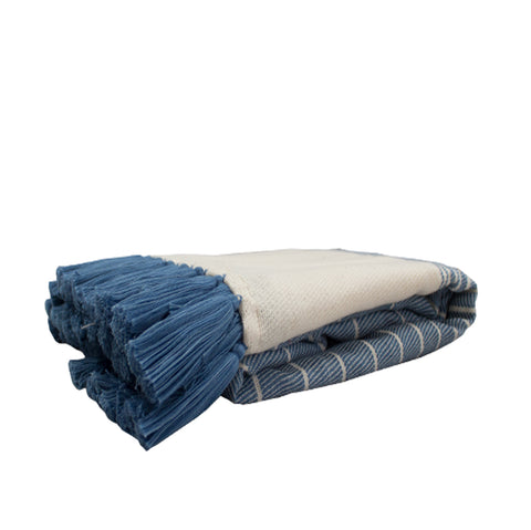 Tassel Throw Blue