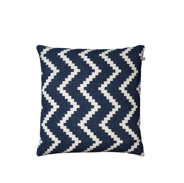 IKAT Sema Cushion - Navy & White