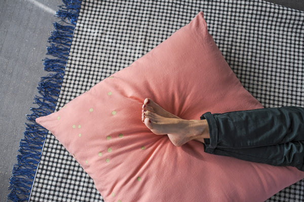 Pink & Gold Spot Floor Cushion