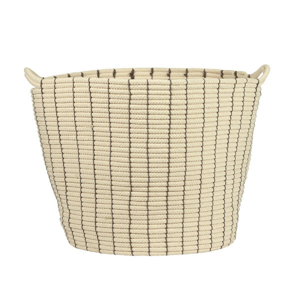 Cream & Grey Bucket Storage Baskets
