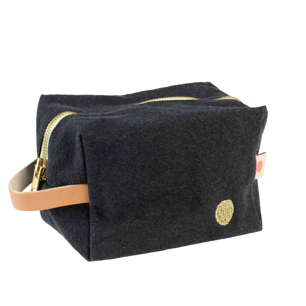 Denim Black Washbag