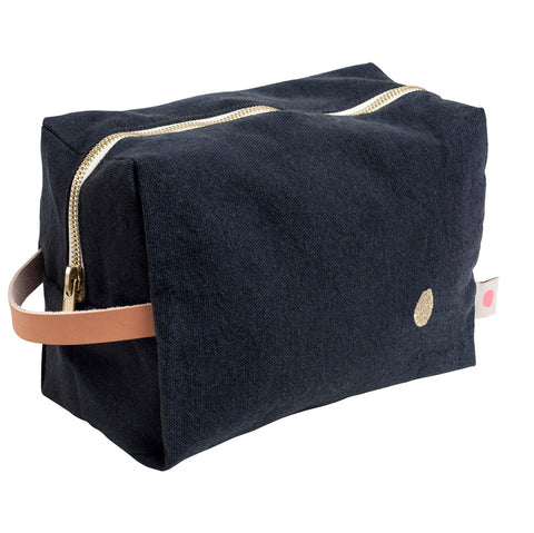 Large Washbag - Denim Black