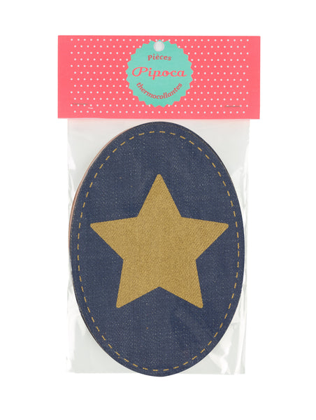 Navy & Gold Star Patch