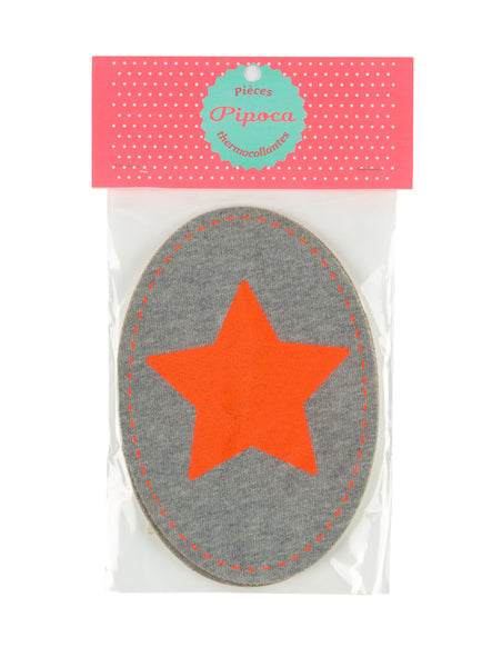 Fluro Orange Star Patch