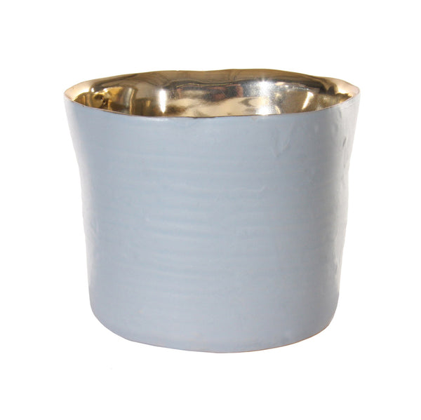 Grey and Gold Pot