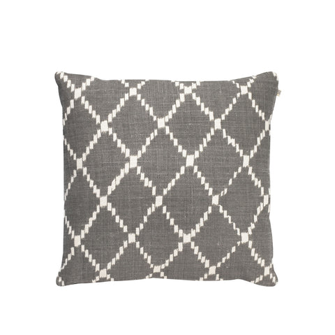 IKAT Kerela Grey & White