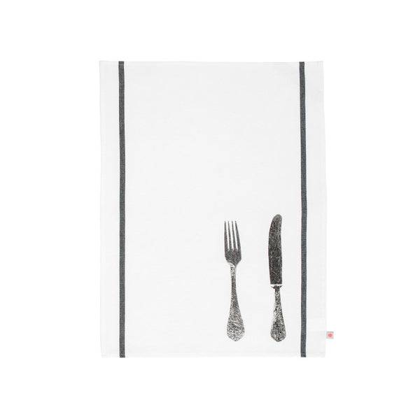 Metallic Knife & Fork Tea towel