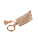 Metallic Linen Scented Keyring : Clean Cotton