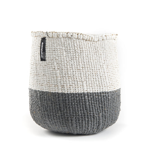 Grey and White Basket