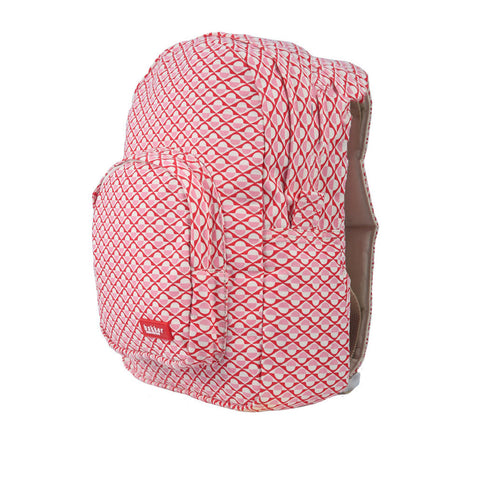 Mini Backpack in Red & Pink Dots