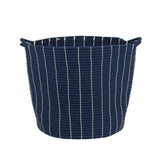 Navy & Cream Bucket Storage Baskets