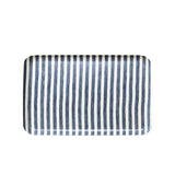 Navy & White Striped Linen Tray Large