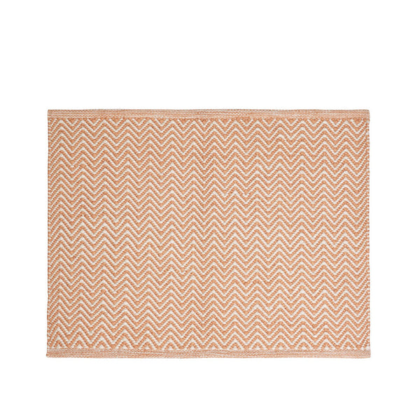 Chevron Indoor/Outdoor Mats - Orange & White