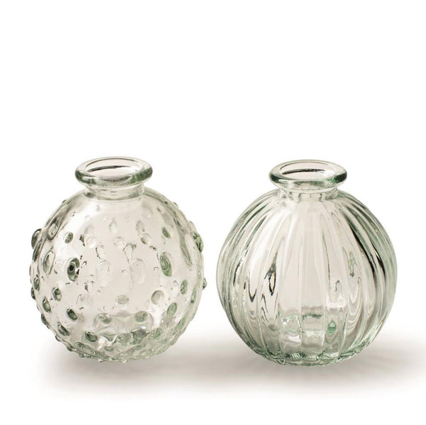 Pair of Clear Vases