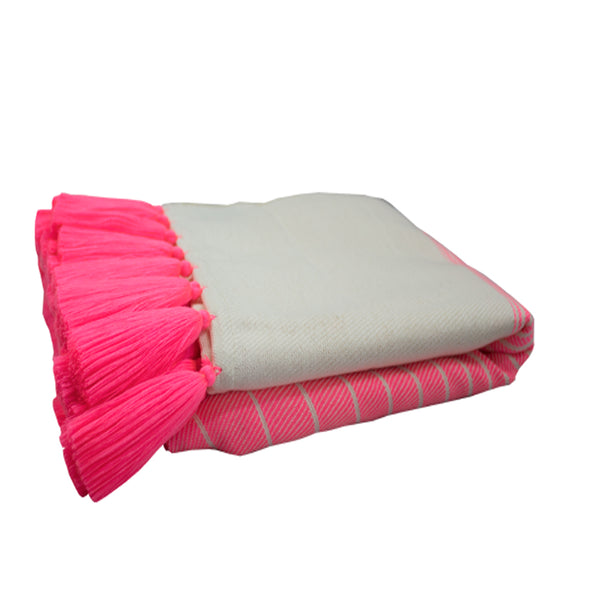 Tassel Throw Pink