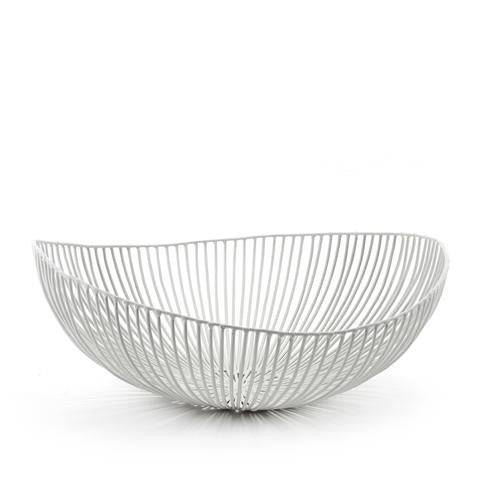 White Wire Bowl