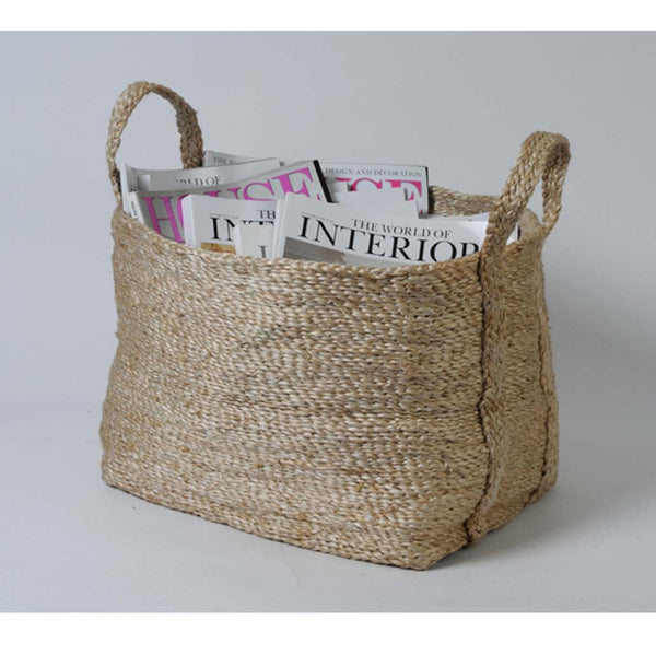 Jute Storage Basket - Natural