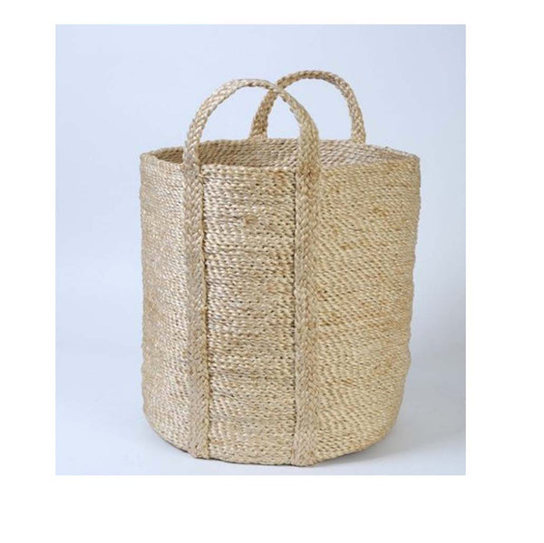 Tall Jute Storage Basket - Natural