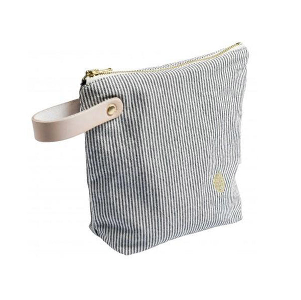 Small Washbag with Handle - Striped