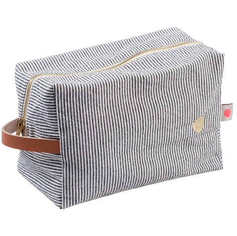 Large Washbag - Black Stripe