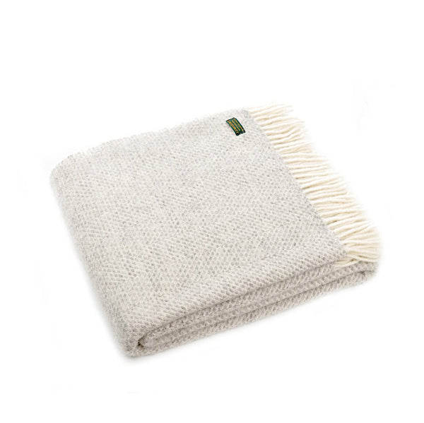 Grey Beehive Throw