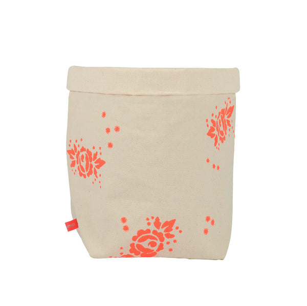 Fluro Rose Fabric Storage Basket