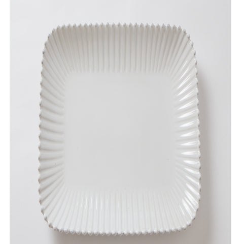 White Bobbled Platter