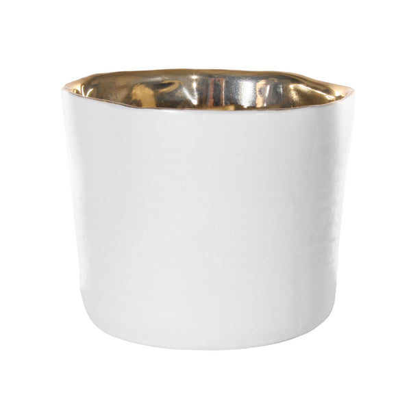 White and Gold Pot