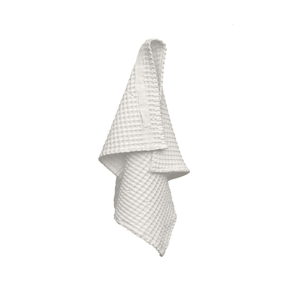 Natural White Waffle Hand Towel